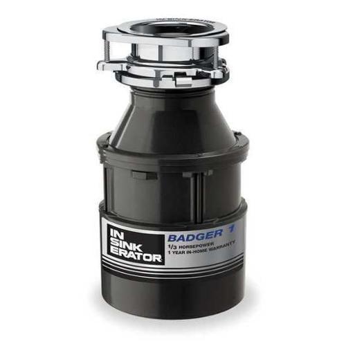 IN-SINK-ERATOR BADGER 1 Garbage Disposal, Badger 1, 1/3 HP
