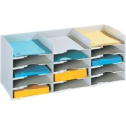 Stackable Horizontal Desktop Organizer in Gray