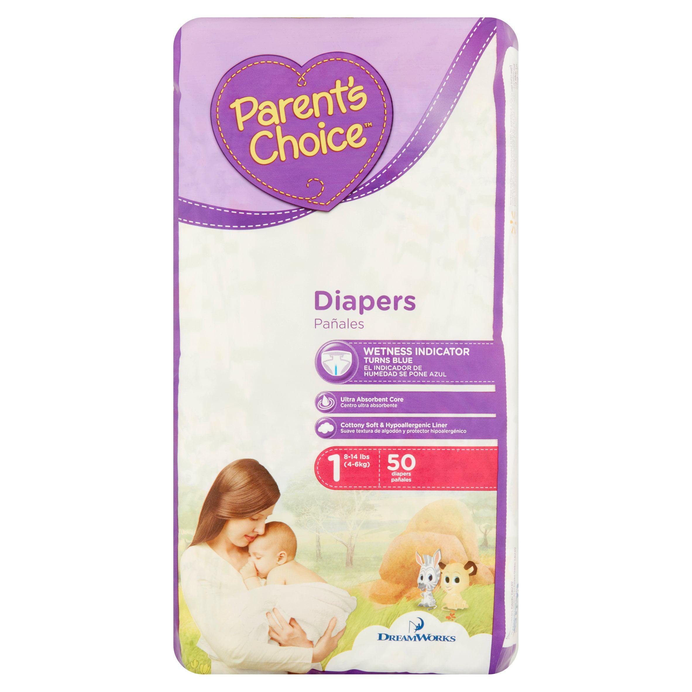 Parent's Choice Diapers, Size 1, 50 Diapers - Walmart.com