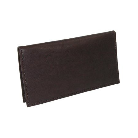 Size one size Leather Card Holder and Checkbook Cover Wallet, Brown