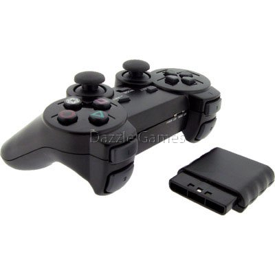 Wireless 2.4GHz Dual Shock Game Controller for Sony PS2 Playstation