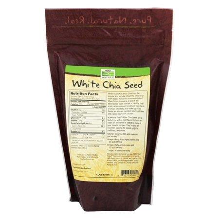 NOW Foods White Chia Seeds 1 Pound
