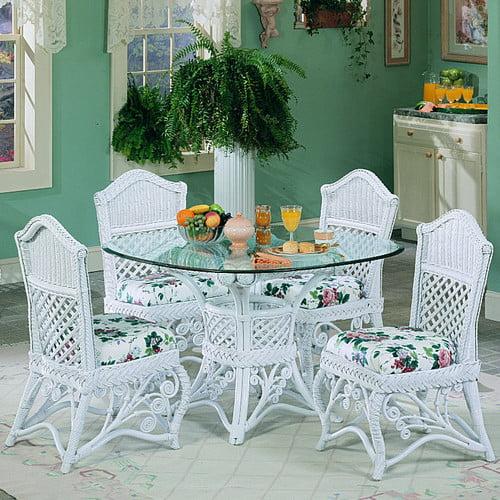 Yesteryear Wicker Gazebo Dining Table