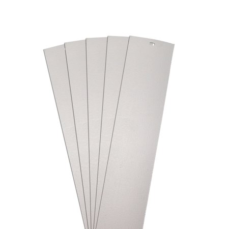 DALIX Chaparral Vertical Blinds Replacement Slats Door White 82.5
