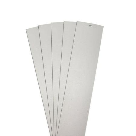 Dalix Chaparral Vertical Blind Slats Replacements Gray 42 5 Quot Window 5 Pack Walmart Com