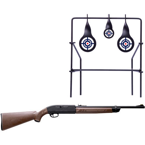Crosman 2100B .177 Caliber Air Rifle and Metal Target Value Bundle - Black