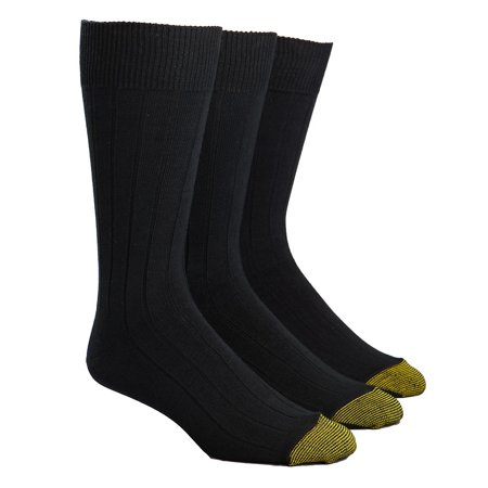 Gold Toe Men's Hampton Reinforced Toe Socks, 3 Pack 2pk Cotton Sock