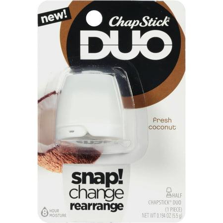 ChapStick DUO noix de coco fraîche Baume à lèvres - 0,194 oz