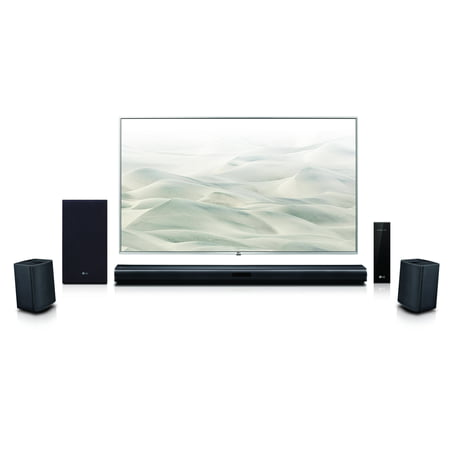 LG 4.1 Channel 420W Soundbar Surround System with Wireless Speakers - SLM4R