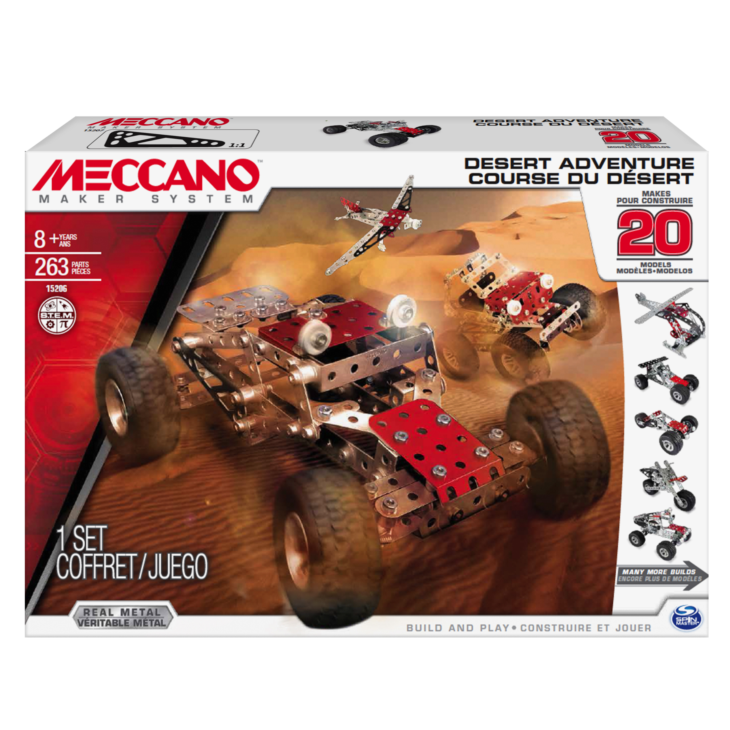 Meccano by Erector, Desert Adventure, 20 Model Building Kit