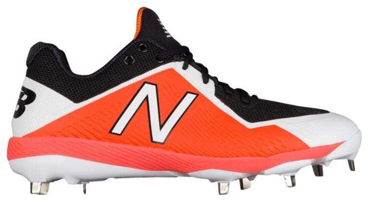 New Balance Mens Size 12 Low Metal Baseball Cleats Black Orange Digital