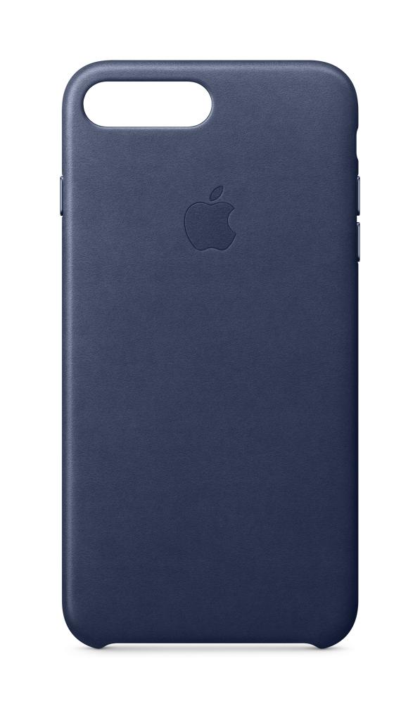 Apple - iPhone® 8 Plus/7 Plus Leather Case - Midnight Blue