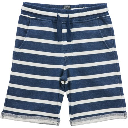 Toddler Boys' Striped Cuffed Knit Short with Drawstring Waist