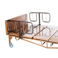 """Drive Medical Half Length """"T"""" Style Bed Rails, 1 Pair"""