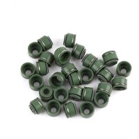 30pcs Green Metal Rubber Motorbike Intake Exhaust Valve Stem Oil Seal for CG-125