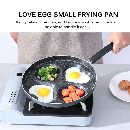 Four-hole Frying Pot Thicken Omelet Pan Non-stick Egg Ham Pancake Steak Cooking