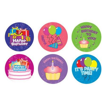 Happy Birthday Sticker Roll (100 Stickers)](Custom Roll Stickers)