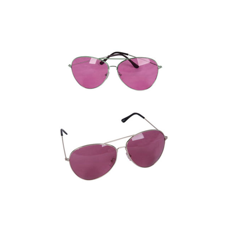Cp You Get 1 Retro Vintage Oversized Pink Lens Silver Frame Aviator Rock Star (Vintage Pink Glasses)