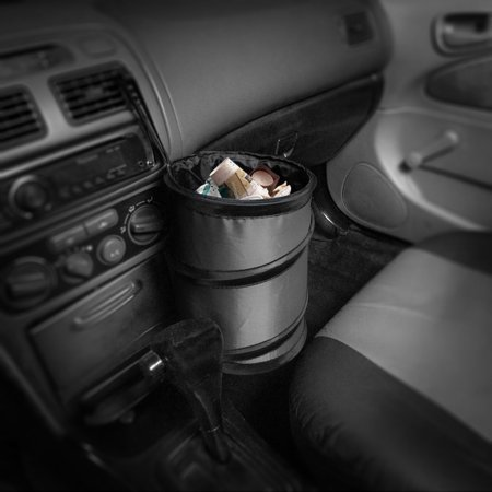 Auto Car Trash Can Portable Collapsible Waterproof Small 7 Colors ()