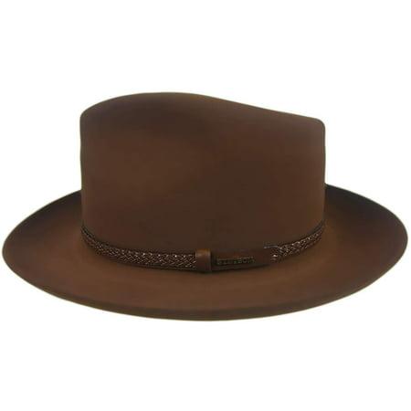 John B. Stetson Company Setson Men's Walnut Emmett Fedora Hat 7 1/8