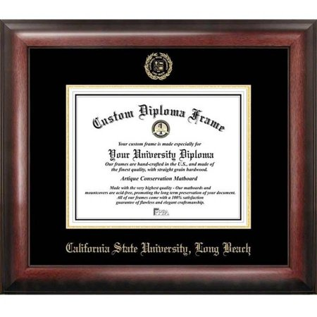Cal State Long Beach 85 X 11 Gold Embossed Diploma Frame