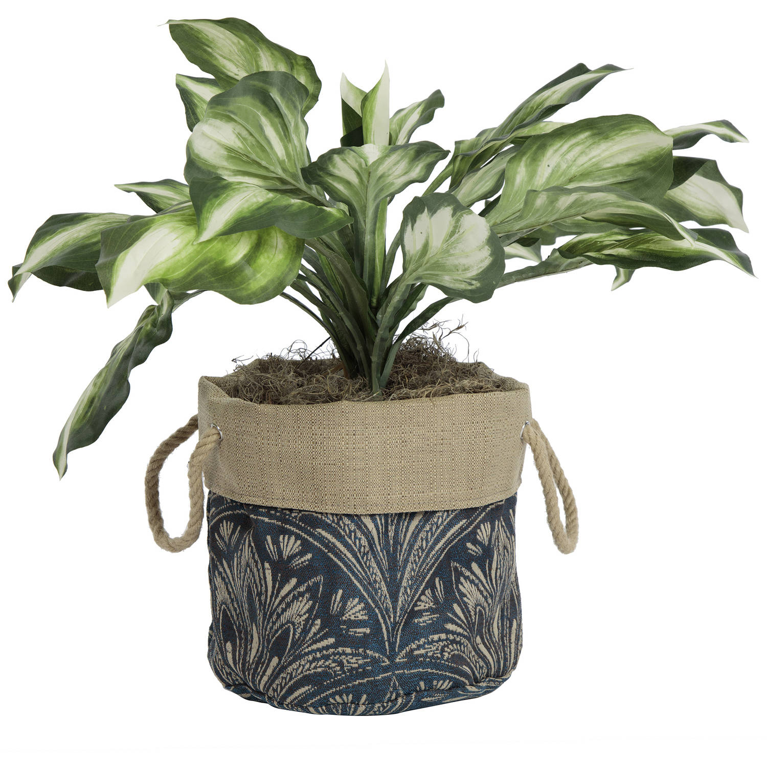 Bombay Outdoors 10 Aviana Fabric Floor Planter In Royal Zanzibar