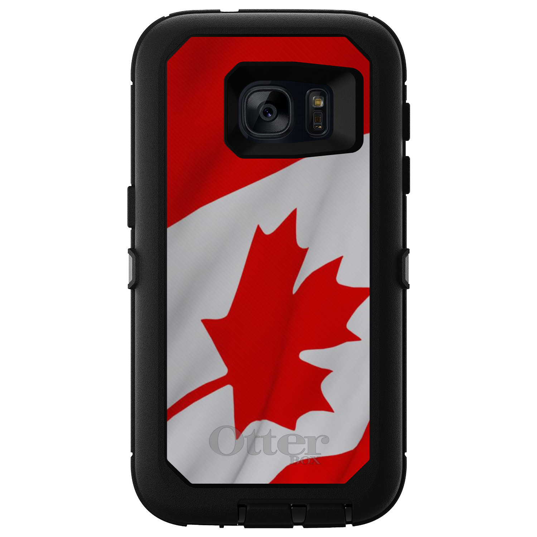 DistinctInk Custom Black OtterBox Defender Series Case for Samsung Galaxy S7 Red...
