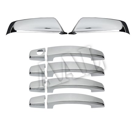 Buick 4 Door - AAL Premium Chrome Cover Combo For BUICK 2010 2011 2012 LACROSSE 4 Doors HANDLE Without Passenger Side Keyhole+2PC MIRROR
