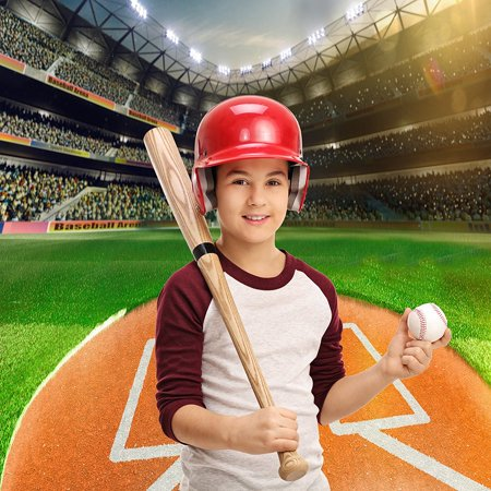 GreenDecor Polyster 5x7ft Photography Backdrop sport Baseball game daytime green newborn background props photocall photobooth photo