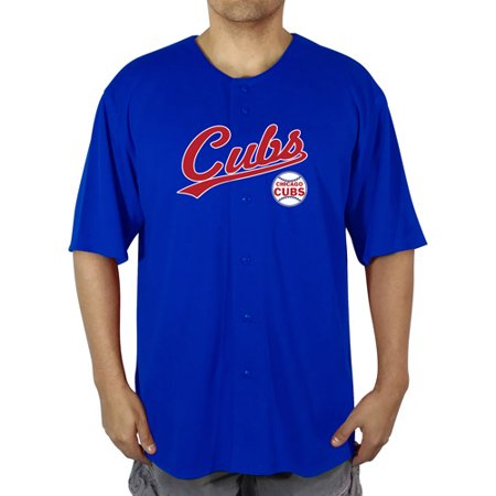 Chicago Cubs Men's Poly Button Down Jersey