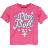 New York Mets Toddler Ball Girl T-Shirt - Pink