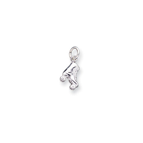 Jewelryweb Sterling Silver One Roller Skate Charm