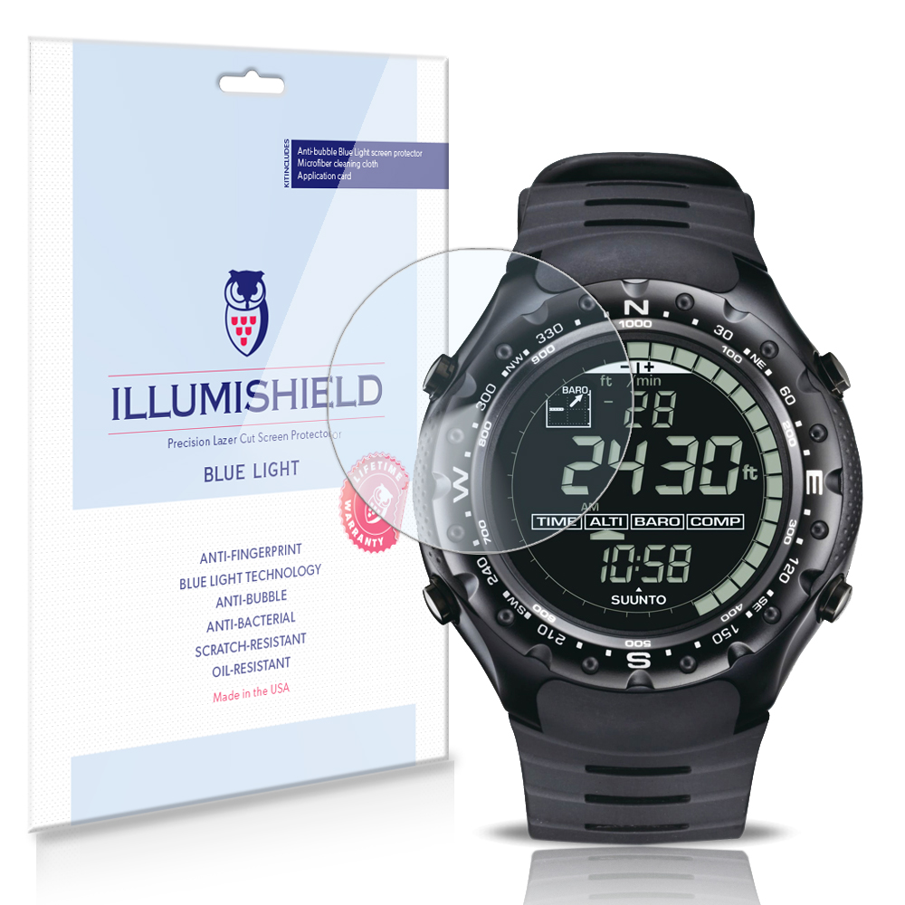 6x iLLumiShield Blue Light Screen Protector for Suunto X-Lander Military Watch by iLLumiShield