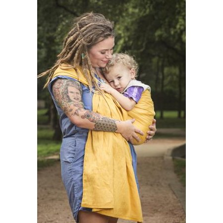 Bibetts Pure Linen Ring Sling Baby Carrier 'Honey' The Bibetts ring sling style of baby carriers are a great option if you want more freedom and mobility after your little one has arrived. A ring sling is ideal for all ages: newborn, baby and toddler. Plus, it folds up tiny in your diaper bag!