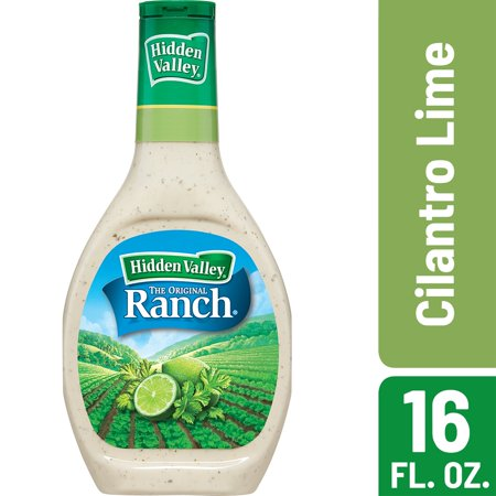 (2 Pack) Hidden Valley Cilantro Lime Ranch Salad Dressing & Topping, Gluten Free - 16 Oz Bottle Chinese Ginger Salad Dressing