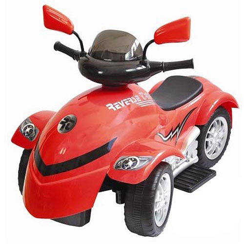 New Star Reverse Trike 6-Volt Battery-Powered Ride-On, Red