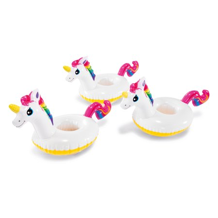 Intex Unicorn Floating Drink Holders Set of 3 - Unicorn Flats