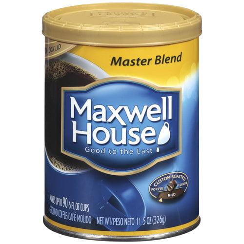 Maxwell House Coffee Master Blend Mild Roast Ground Coffee, 11.5 Oz