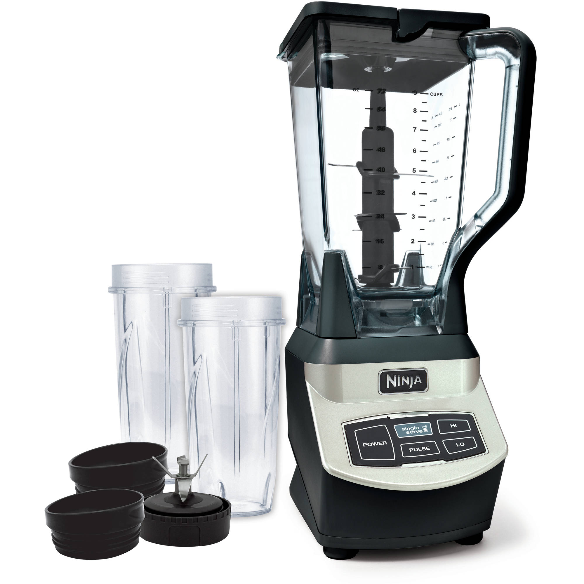 Ninja Professional Blender with Single Serve, Black/Chrome, BL660WM