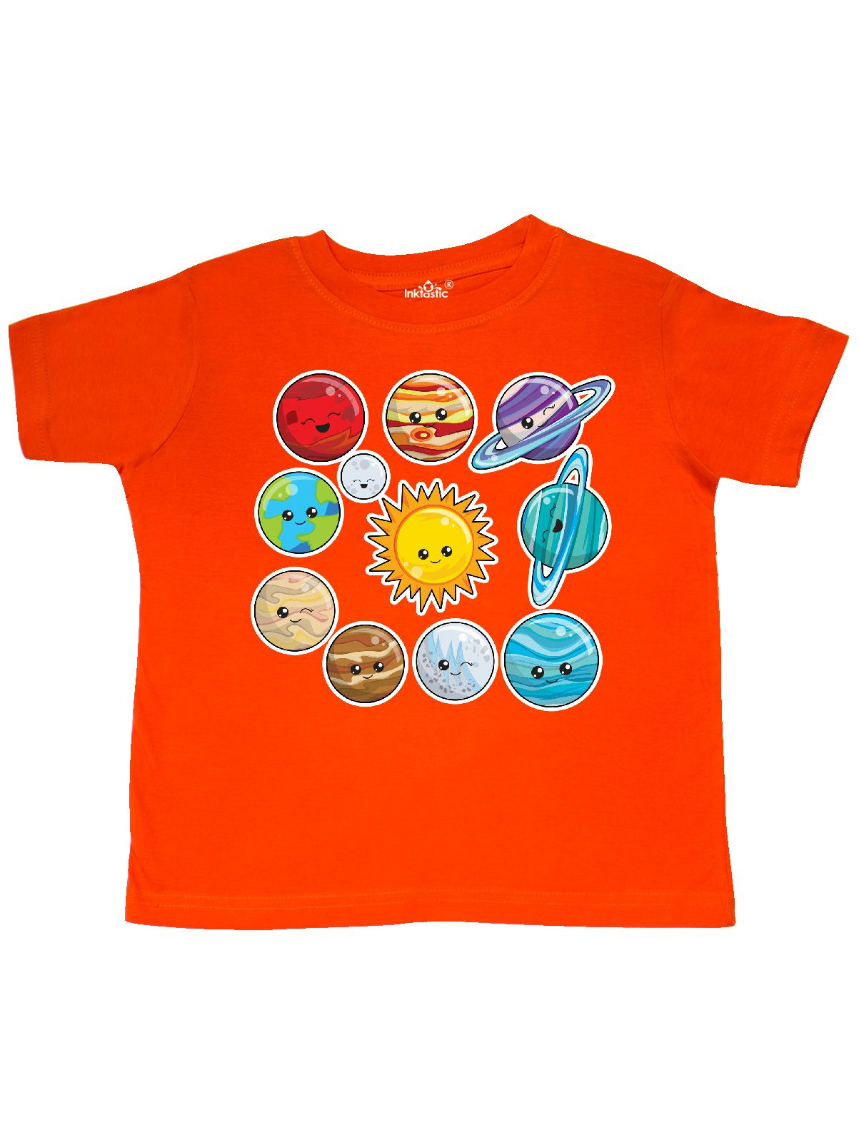 Happy Sun Moon and Planets Toddler T-Shirt
