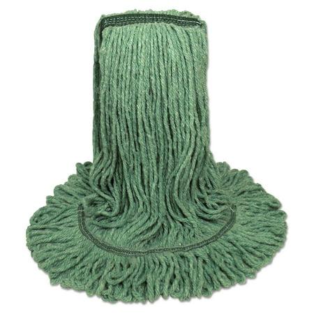 Boardwalk Mop Head, Premium Standard Head, Cotton/Rayon Fiber, Medium, Green -BWK502GNNB Boardwalk 20 Green Green
