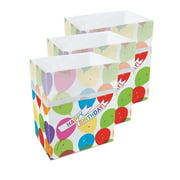 Clean Cubes 13 Gallon Disposable Sanitary Trash Cans & Recycling Bins, 3 Pack (Birthday)