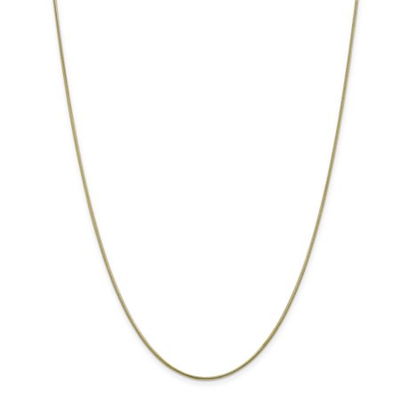 ICE CARATS 10kt Yellow Gold 1.1mm Round Snake Chain Necklace 18 Inch Pendant Charm Fine Jewelry Ideal Gifts For Women Gift Set From Heart