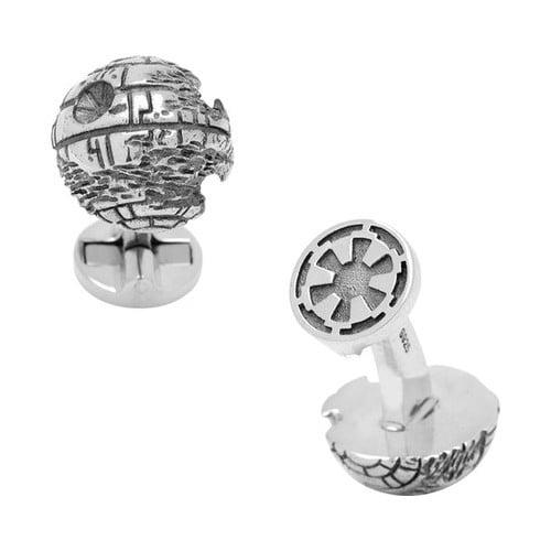 Star Wars Men's Cufflinks Inc Sterling Silver 3D Death St...
