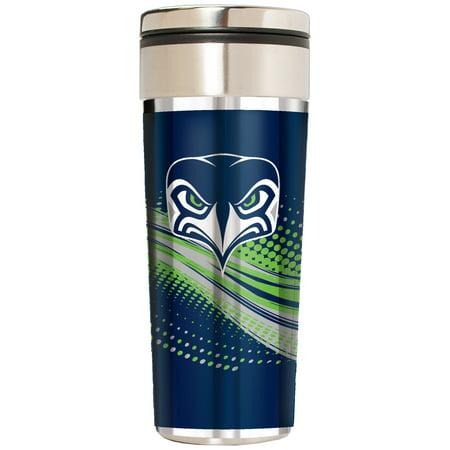 Seattle Seahawks 22oz. Alternate Team Logo Gear Stainless Steel Tumbler - Silver - No Size