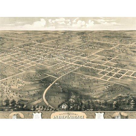 Independence, Missouri 1868 Print Wall (Independence Center Missouri)