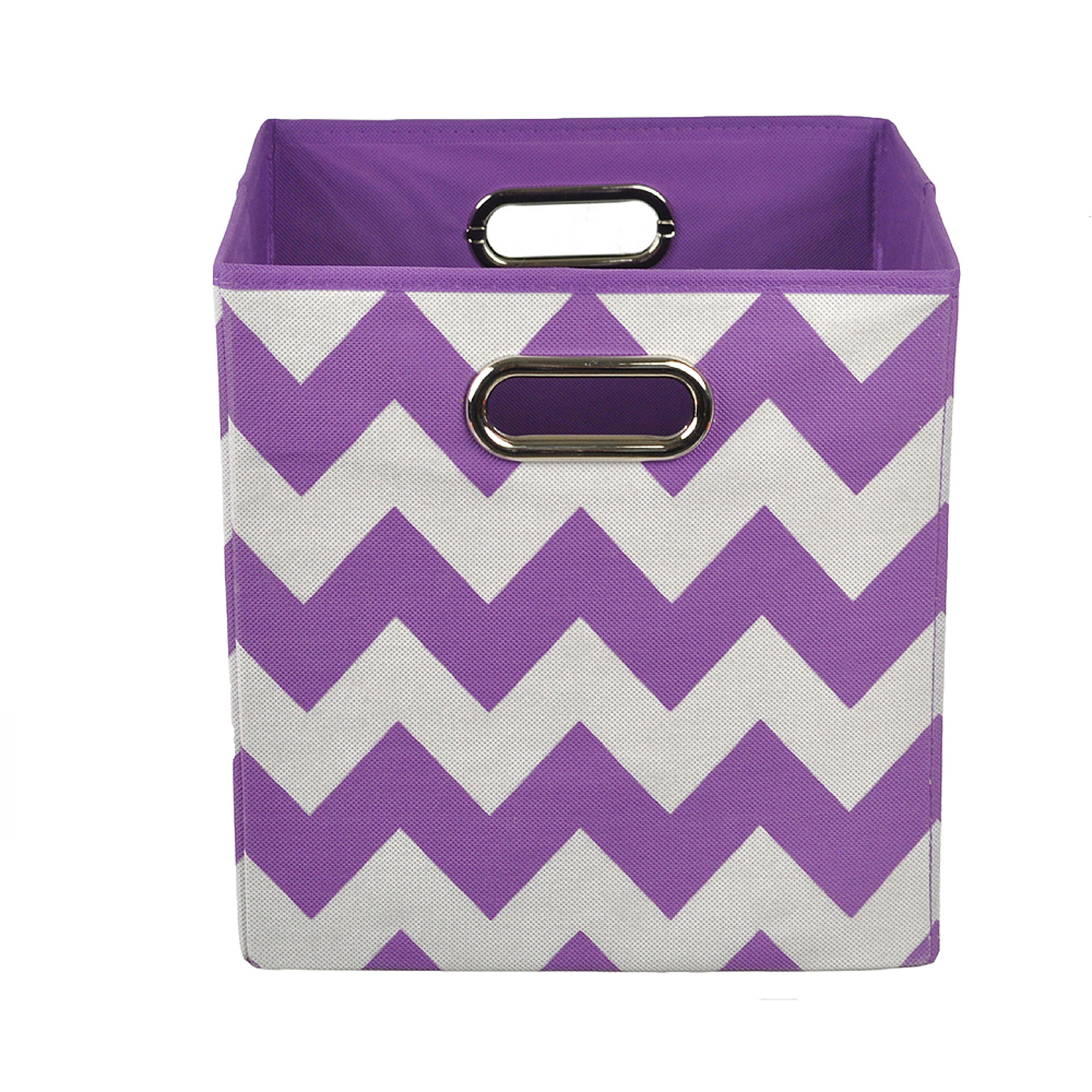 Modern Littles Color Pop Folding Storage Bin, Purple Chevron by Modern Littles