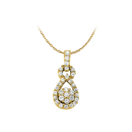 Diamond Fashion Pendant in 14K Yellow Gold 0.33 CT TDW with Gold ChainJewelry Gift - image 1 of 2