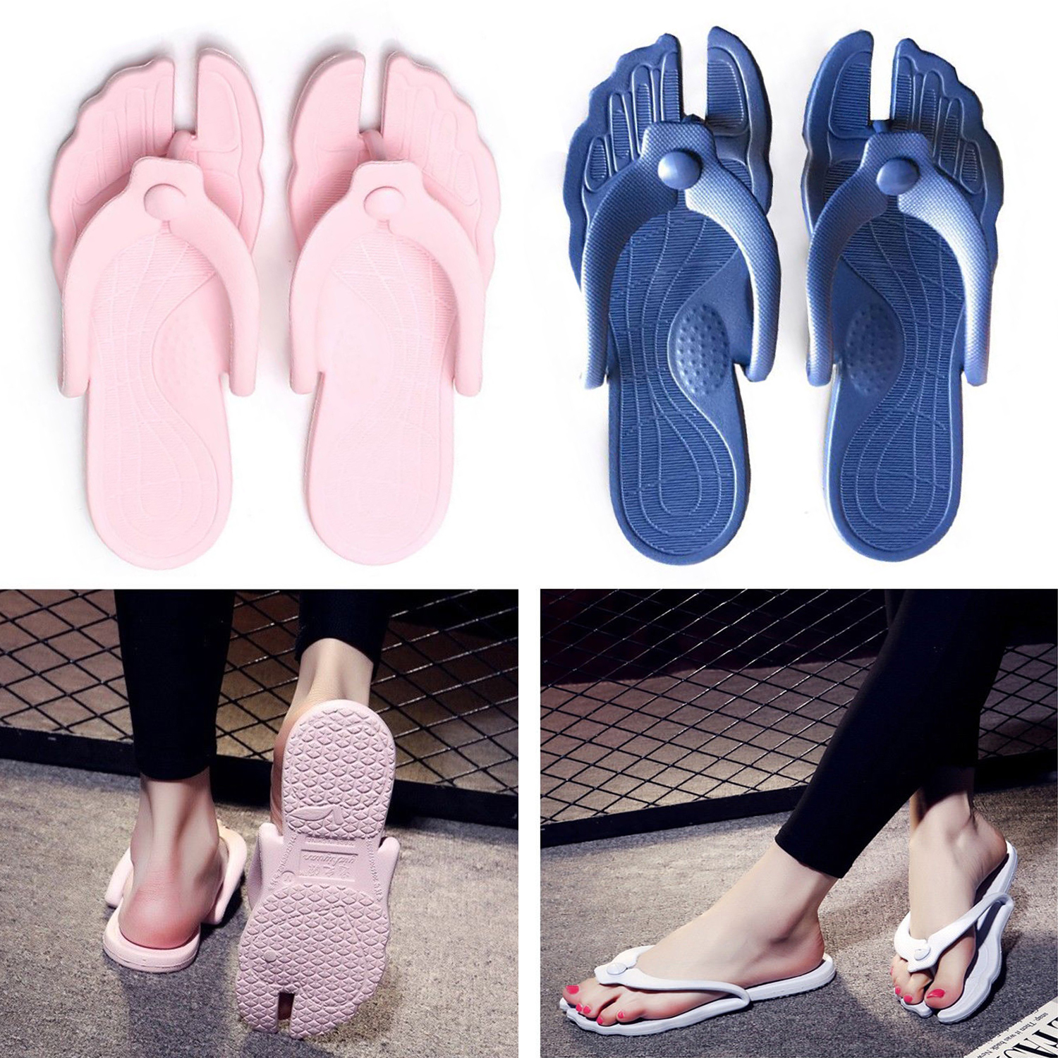 Women Foldable Sandals Summer Slippers Beach Flip Flops Ladies Unisex Flat Shoes