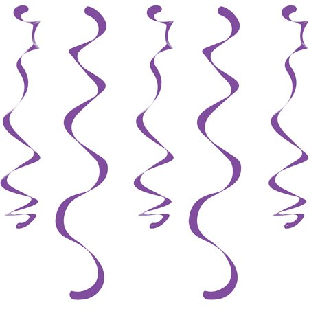 Club Pack of 60 Candy Purple Dizzy Dangler Hanging Party Decorations 18